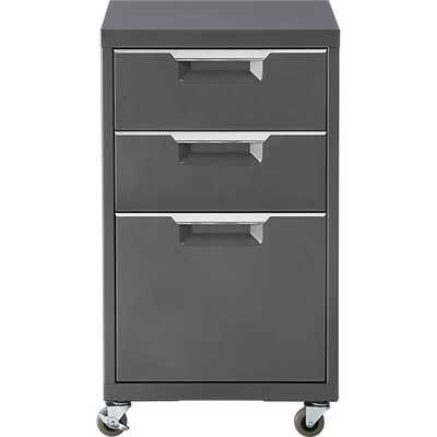 TPS carbon 3-drawer filing cabinet - CB2
