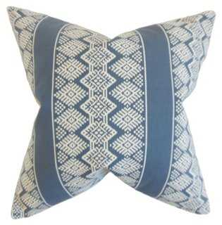 Zadock Geometric 20x20 Pillow, Blue - With Insert - One Kings Lane