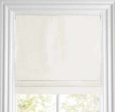 "Linen-cotton cordless roman shade - 64""L x 24""W - Warm White - RH Baby & Child"