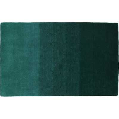 """Ombre teal rug 8""""x10"""" - CB2"""