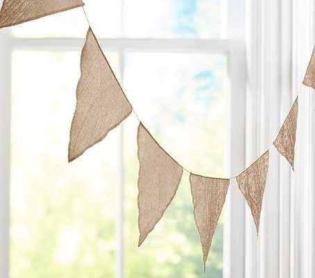 Gold Pennant Garland - Pottery Barn Kids