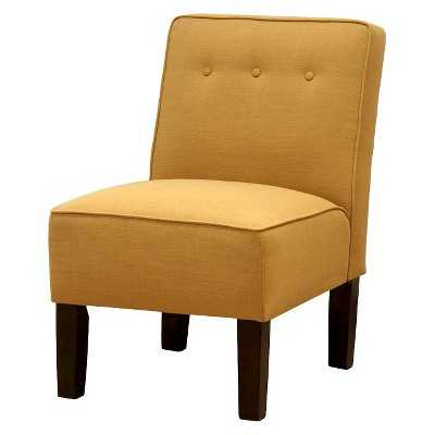 Skyline Slipper Chair with Buttons - Yellow - Target
