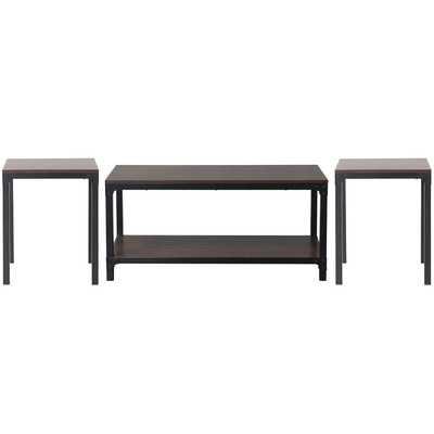 3 Piece Coffee Table Set - Reclaimed Wood - Wayfair