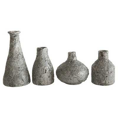 Terra Cotta Vases - Distressed Grey, Set of 4 - Target