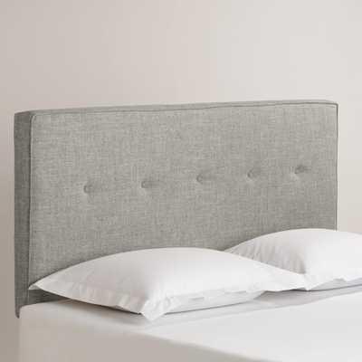 Linen Donnon Upholstered Headboard, Queen, Pumice - World Market/Cost Plus