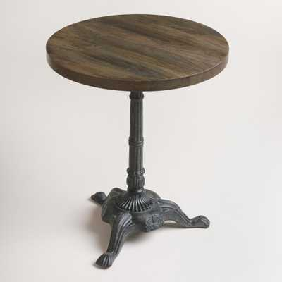 Metal and Wood French Bistro Accent Table - World Market/Cost Plus
