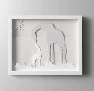Animal silhouette art - giraffe - RH Baby & Child