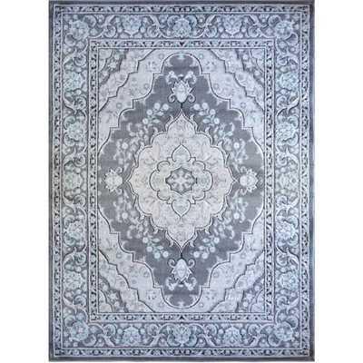 Cambridge Grey Ornamental Rug - 7'10 x 10'2 - Overstock