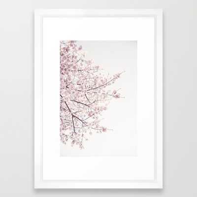 Cherry blossom 15x21 framed - Society6