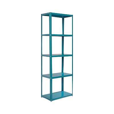 """Soft Modern 69.72"""" Standard Bookcase - Peacock Blue - Wayfair"""