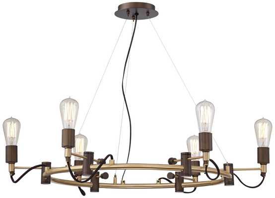 "Henning 28 1/4"" Wide Oil Rubbed Bronze 6-Light Chandelier - Lamps Plus"