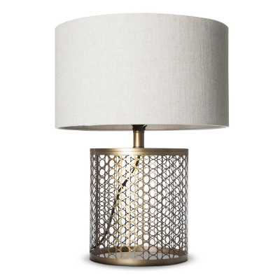 Open Metal Circle Pattern Table Lamp - Target