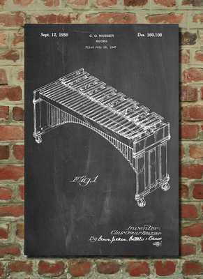 Musser Marimba Patent Poster, Music Room Decor - Etsy