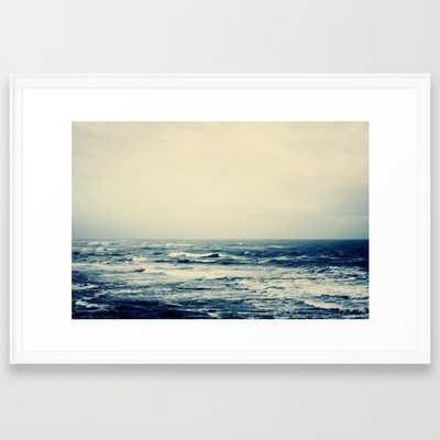"Sea- 38"" X 26- Scoop white frame, - Society6"