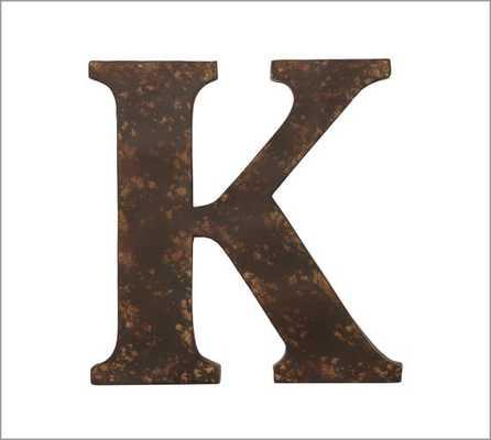 Rustic Metal Letter, K - Pottery Barn