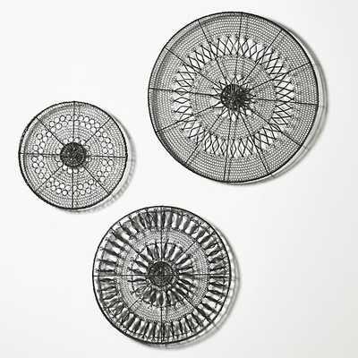 3-Piece Intricate Circle Metal Wall Art Set - Crate and Barrel