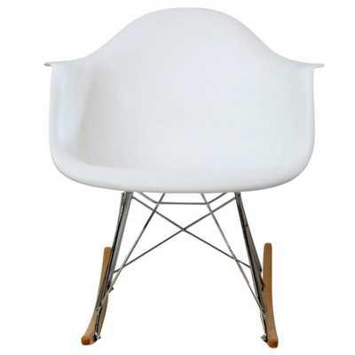 Rocker Lounge Chair in White - Domino