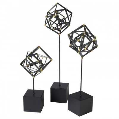 Tilted Cube Sculpture - Small - High Fashion Home