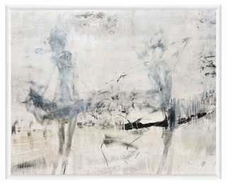 """Abstract Grays - 20.5""""L x 16.5""""H - framed - One Kings Lane"""