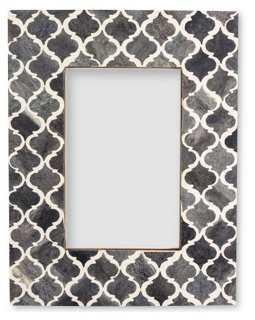 Morrocan Tile Frame, 5x7, Gray - One Kings Lane