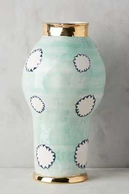 Dreambirds Vase - Mint, Tall - Anthropologie