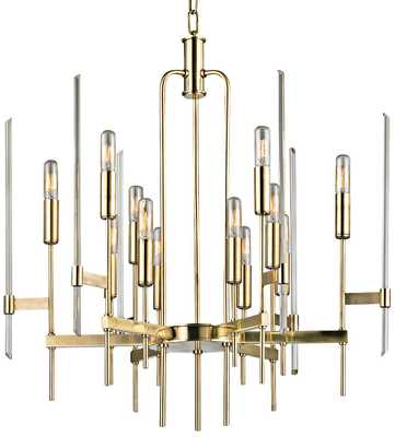 """Hudson Valley Bari 24"""" Wide Aged Brass Chandelier - Lamps Plus"""
