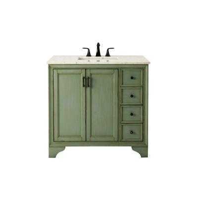 Hazelton Vanity in with Marble Vanity Top - Home Depot