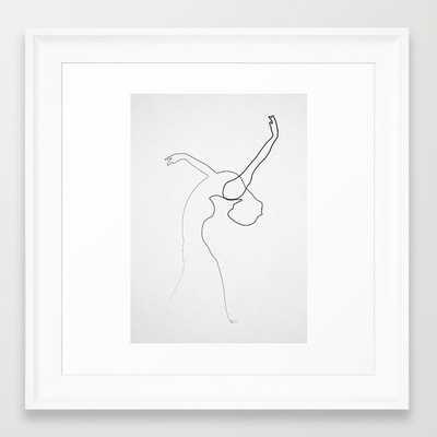 """One line Dancer- 12"""" X 12""""- Framed - Society6"""