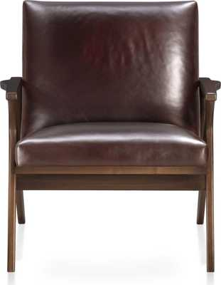 Cavett Leather Chair - Crate and Barrel