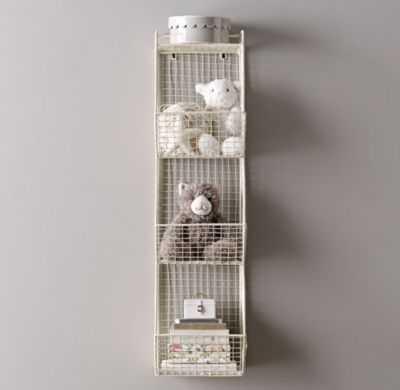 industrial wire 3 cubby storage - RH Baby & Child