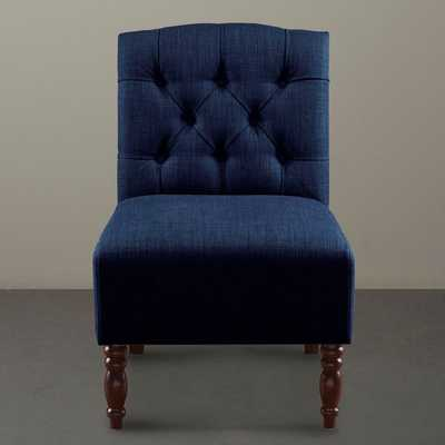 Lola Navy Tufted Armless Chair - Overstock