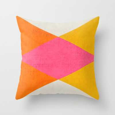 """Summer triangles Indoor Pillow - 20"""" x 20"""" - Down Insert - Society6"""