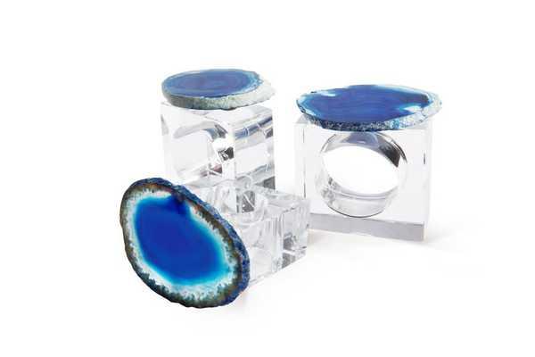 Splendid Geode Napkin Rings - Domino