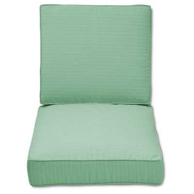 Belvedere 2-Piece Outdoor Replacement Patio Club Chair/Loveseat Cushion Set-Seafm - Target