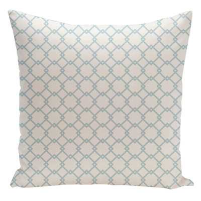 """Holiday Brights Geometric Throw Pillow-26"""" Sq.- Off-White / Icicle - Insert included - Wayfair"""
