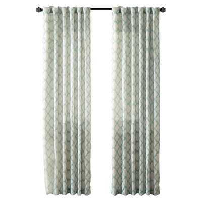 "Nakita Linen Single Curtain Panel-Aqua- 95""x50"" - Wayfair"