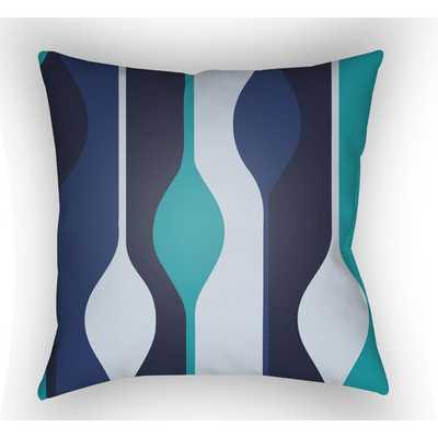"""Moderne Throw Pillow - Blue - 18""""x18"""" - Insert Sold Separately - AllModern"""