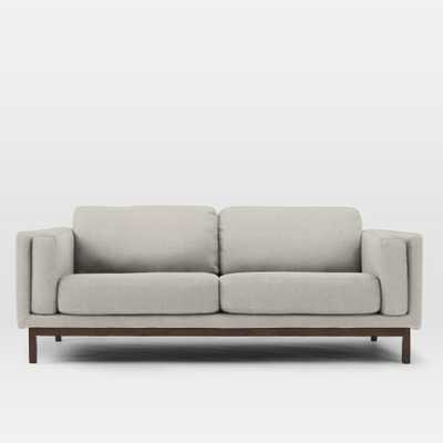 Dekalb Upholstered Sofa - Basketweave, Putty Gray - West Elm