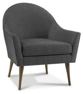 Campbell Chair, Graphite Herringbone - One Kings Lane