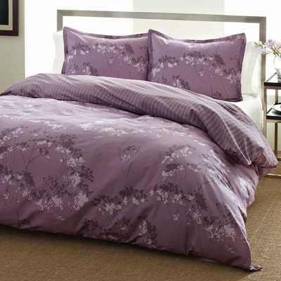 City Scene Blossom Purple Floral Reversible 3-piece Comforter Set - Overstock