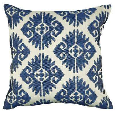 "Urban Loft Aztec Indigo 20""Sq Throw Pillow-Feather Insert - Wayfair"