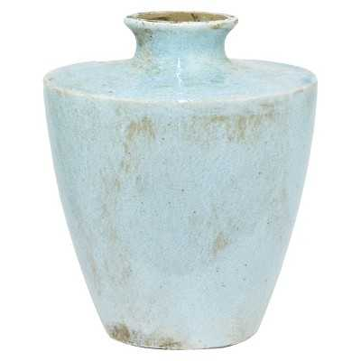 "Three Hands Terracotta Vase - Turquoise (11.5"") - Target"
