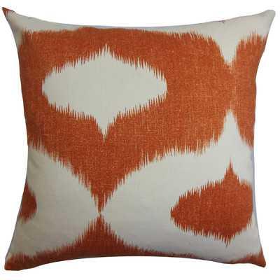 """Leilani Ikat Throw Pillow-Orange-18""""x18""""-With INsert - Wayfair"""