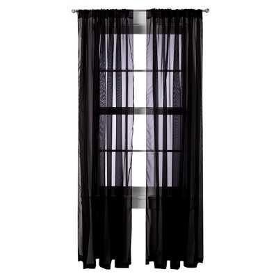 "Room Essentialsâ""¢ Voile Sheer Curtain Panel Pair - 60.000 W x 84.000 L - Target"