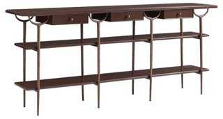 "Jocelyn 75"" Console, Tawny Brown - One Kings Lane"
