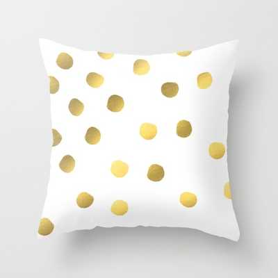 """Painted spots of gold - 18"""" x 18"""" - Insert included - Society6"""