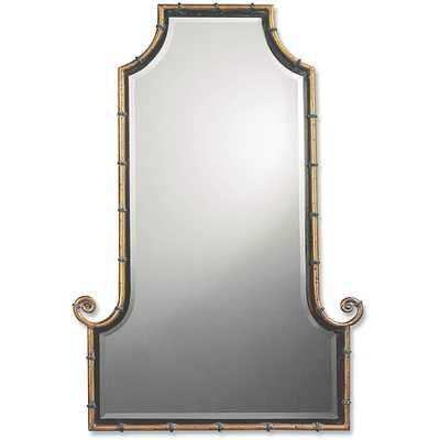 Uttermost Himalaya Spotted Gold Iron Framed Mirror - Overstock