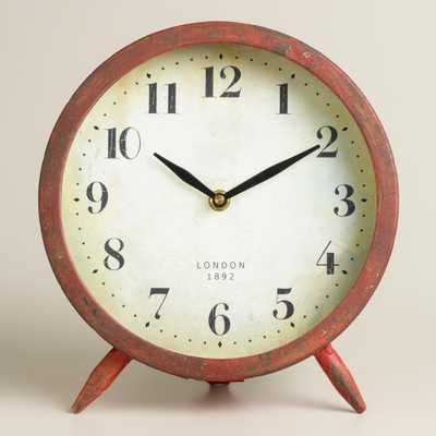 Large Red Charlie Clock - World Market/Cost Plus