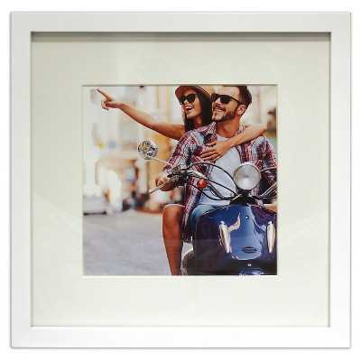 """12""""x12"""" Matted for 8""""x8"""" Photo - White - Target"""