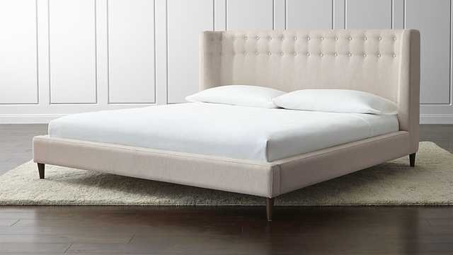Gia Upholstered King Bed - Crate and Barrel